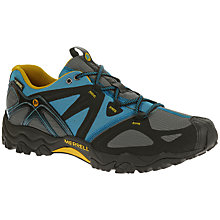 Buy Merrell Grassbow Sport Gore-Tex Men's Walking Shoes, Navy/Orange Online at johnlewis.com