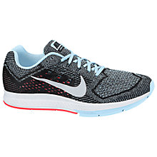 Buy Nike Air Zoom Structure 18 Women's Running Shoes, Silver/Light Blue Online at johnlewis.com