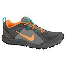 Buy Nike Men's Wild Trail Running Shoes, Grey/Orange Online at johnlewis.com
