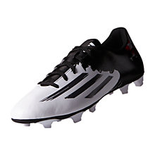 Buy Adidas Messi 10.4 FG Men's Football Boots, White/Granite Online at johnlewis.com
