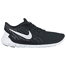 Buy Nike Free 5.0 Men's Running Shoes, Black/Grey Online at johnlewis.com