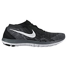 Buy Nike Free 3.0 Flyknit Women's Running Shoes, Black/Anthracite Online at johnlewis.com