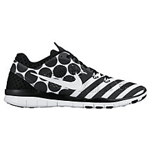 Buy Nike Free TR Fit 5 Print Women's Cross Trainers, Black/White Online at johnlewis.com