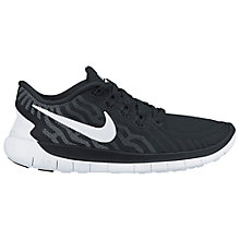 Buy Nike Free 5.0 Women's Running Shoes, Black/Dark Grey Online at johnlewis.com