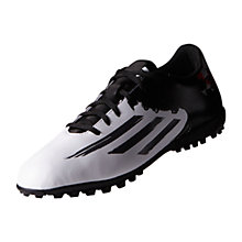 Buy Adidas Messi 10.4 TF Men's Football Boots, White/Granite Online at johnlewis.com