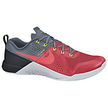 Buy Nike Metcon 1 Men's Cross Trainers, Red/Grey Online at johnlewis.com