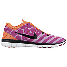 Buy Nike Free 5.0 TR Fit 5 Print Women's Cross Trainers, Pink/Orange Online at johnlewis.com