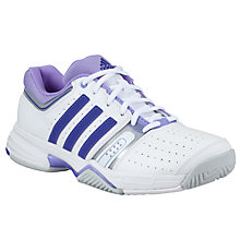 Buy Adidas Match Classic Women's Tennis Court Shoes, White/Silver Online at johnlewis.com