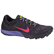 Buy Nike Women's Zoom Terra Kiger 2 Running Shoes, Black/Purple Online at johnlewis.com