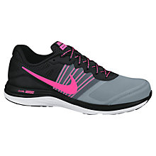 Buy Nike Dual Fusion X Women's Running Shoes, Black/Pink Online at johnlewis.com