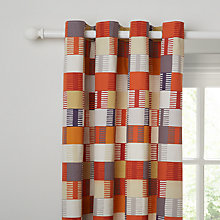 Buy Scion Navajo Lined Eyelet Curtains, Orange Online at johnlewis.com