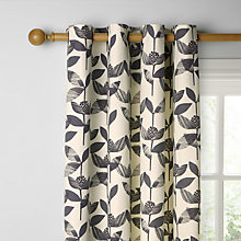 Buy John Lewis Florien Lined Eyelet Curtains, Soft Black Online at johnlewis.com