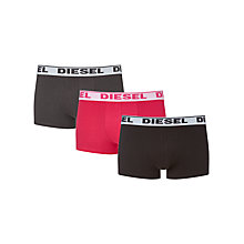 Buy Diesel Stretch Cotton Plain Trunks, Pack Of 3 Online at johnlewis.com