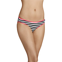 Buy Bonds Hipster Cotton Bikini Briefs, Get Even Stripe Black Online at johnlewis.com