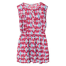 Buy Mango Kids Ikat Print Dress, Red Online at johnlewis.com