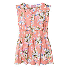 Buy Mango Kids Girls' Frilled Floral Ruched Dress Online at johnlewis.com