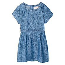 Buy Mango Kids Girls' Printed Chambray Dress, Blue Online at johnlewis.com