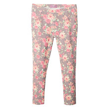 Buy Mango Kids Girls' Rose Floral Print Leggings, Pink/Grey Online at johnlewis.com