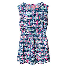 Buy Mango Kids Girls' Ikat Print Dress, Blue Online at johnlewis.com