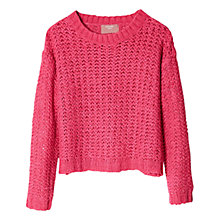 Buy Mango Kids Girls' Openwork Knitted Sweatshirt Online at johnlewis.com