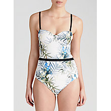 Buy Ted Baker Zilay Twilight Floral Swimsuit, White / Multi Online at johnlewis.com