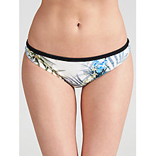 Buy Ted Baker Zilar Floral Bikini Briefs, White / Multi Online at johnlewis.com