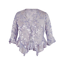 Buy Chesca Lace Cap Devoree Applique Shrug, Lilac Online at johnlewis.com