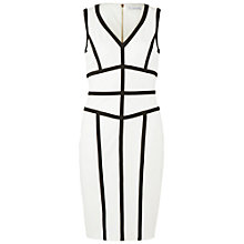Buy Gina Bacconi Scuba Dress, Black/Chalk Light Online at johnlewis.com