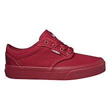Buy Vans Atwood Canvas Casual Trainers, Red Online at johnlewis.com
