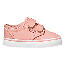 Buy Vans Atwood Tapestry Canvas Rip-Tape Trainers, Pink/White Online at johnlewis.com