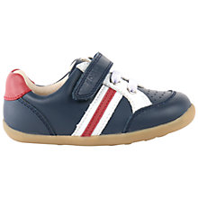 Buy Bobux Children's Leather Rip-Tape Trackside Sports Shoes, Navy/Red Online at johnlewis.com