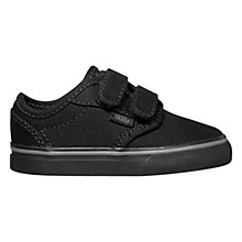 Buy Vans Atwood Canvas Casual Trainers, Black Online at johnlewis.com