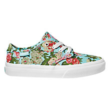 Buy Vans Camden Casual Trainers, Sky Blue/Multi Online at johnlewis.com
