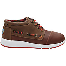 Buy TOMS Bimini Lace Up Boots, Brown Online at johnlewis.com