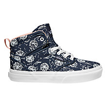 Buy Vans Atwood Hi Dandelion Canvas Trainers, Navy/White Online at johnlewis.com