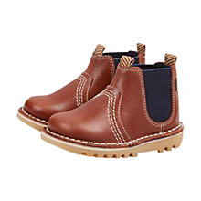 Buy Kickers Leather Chelsea Boots, Tan Online at johnlewis.com