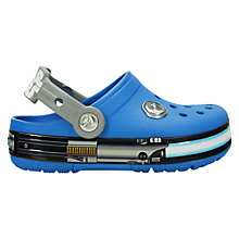 Buy Crocs Kids' Lights Star Wars Jedi Sandals, Ocean Blue/Light Grey Online at johnlewis.com