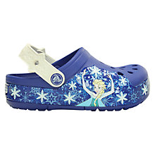Buy Crocs Disney Frozen Light-Up Clogs, Cerulean Blue/Oyster Online at johnlewis.com