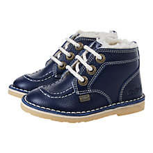 Buy Kickers Adlar Legendary Faux Fur Boots, Blue Online at johnlewis.com