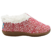 Buy TOMS Felt Tribal Slippers, Pink/White Online at johnlewis.com