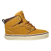 Buy Vans Atwood Canvas Buck Oak Hi-Top Shoes, Tan Online at johnlewis.com