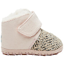 Buy TOMS Cuna Ribbed Crib Boots, Pink Online at johnlewis.com