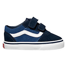 Buy Vans Milton V Canvas Shoes, Navy/White Online at johnlewis.com