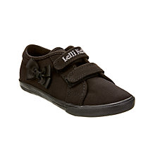 Buy Lelli Kelly Lilly Canvas Plimsolls, Black Online at johnlewis.com
