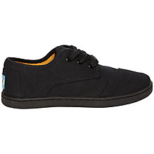 Buy TOMS Paseo Canvas Plimsolls, Black Online at johnlewis.com