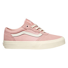 Buy Vans Milton Canvas Suede Casual Trainers, English Rose Online at johnlewis.com