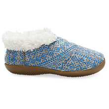 Buy TOMS Felt Tribal Slippers, Blue/Grey Online at johnlewis.com