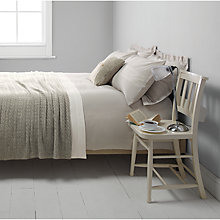 Buy John Lewis Pima Seersucker Bedding, Grey Online at johnlewis.com