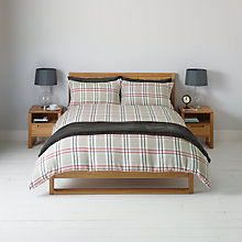 Buy John Lewis Brushed Cotton Tartan Duvet and Pillowcase Cover Set Online at johnlewis.com