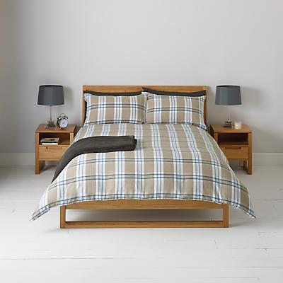 Image of John Lewis Brushed Cotton Tartan Duvet and Pillowcase Cover Set